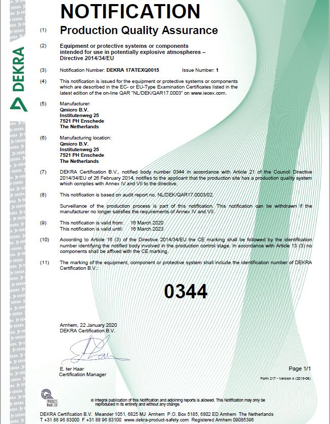 Ex production certified to 2023