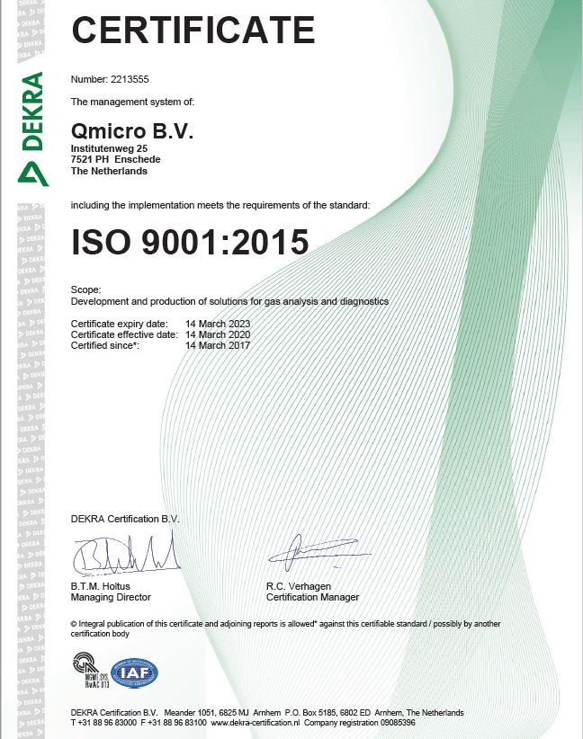 ISO9001 certified to 2023